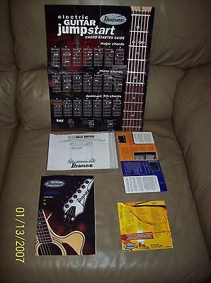 FIVE  PIECE LOT OF IBANEZ GUITAR INSTRUCTION ITEMS FOR THE BEGINNING GUITARIST