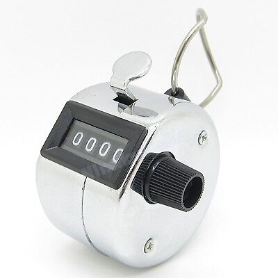 4 Digit Number Manual Hand Handheld Tally Mechanical Palm Clicker Counter