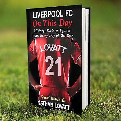 Personalised LIVERPOOL Football Club FC On This Day BOOK Gift Fun Facts