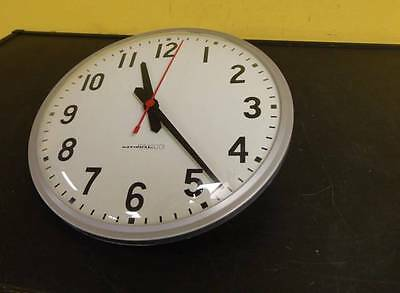 """Vintage National Time & Signal 12"""" School Wall Clock Glass Face Synchron #3"""