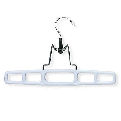Honey Can Do HNGZ01326 Plastic Pant Hanger with Clamp - 12 Pack