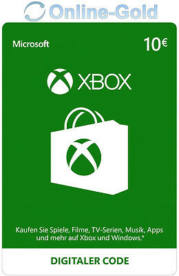 Xbox Live Card - 10 Euro Microsoft Guthaben - ms Xbox 360 / Xbox One Live Card