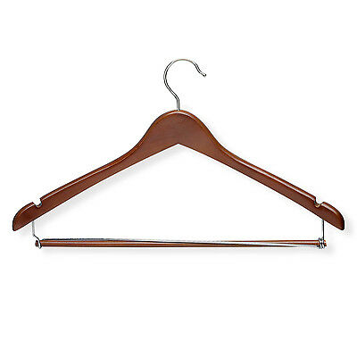 Honey Can Do HNGT01265 Contoured Suit Hanger with Locking Bar - 6 Pack