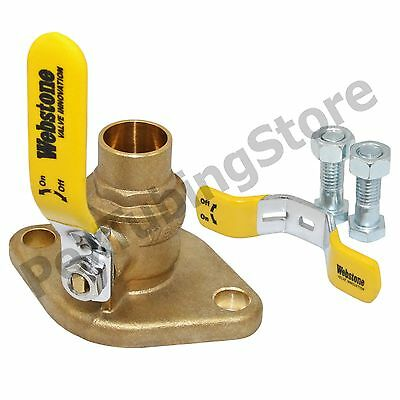 """(2) 1"""" Sweat Isolator Pump Flange Valves by Webstone #50404 for Taco, Grundfos"""