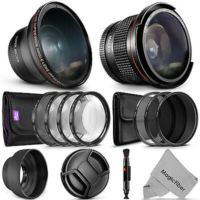 58MM Lens &  Filter Kit for Canon Rebel T5i T4i T3i T3 T2i Xti 18-55mm ( 21 Pcs)