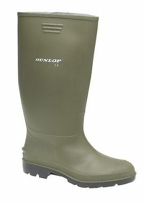 Mens Green Black Dunlop Size 6 7 8 9 10 11 12 Wellington Wellies Welly Boots