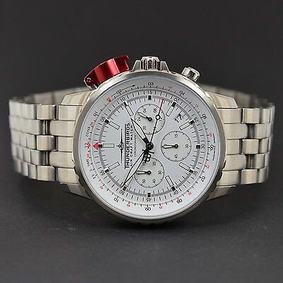 THUNDERBIRDS CHRONOGRAPH FIGHTING STEEL PRO EDITION XL 43mm FLIEGERUHR  WHITE