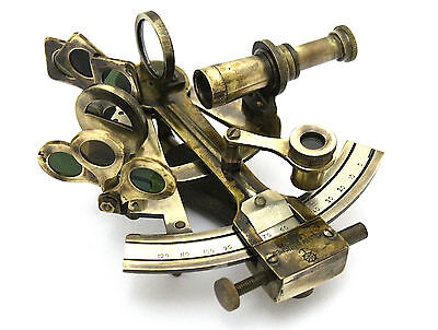Collectable Brass Sextant - Brass Marine Sextant - Kelvin & Hughes London 1917