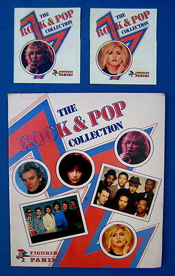 1980 Panini collector album w/ 2 wrappers Blondie Sting Selecter Kate Bush