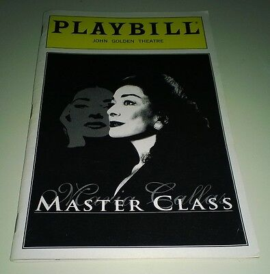 Playbill Dixie Carter in Master Class