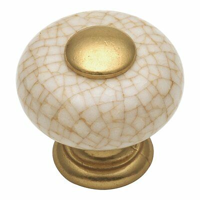 Hickory Hardware P221-VC Tranquility Wheatland Knob, Vintage Brown Crackle