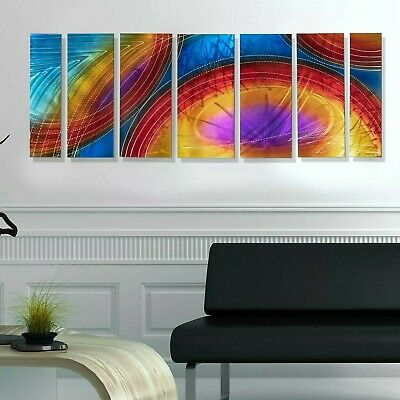 Statements2000 3D Metal Wall Art Panels Modern Multi Color Painting by Jon Allen