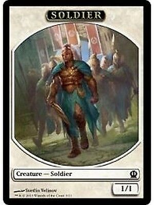 8x TOKEN Soldato Bianco 1/1 - White Soldier MTG MAGIC THS Theros Eng/Ita 3/11