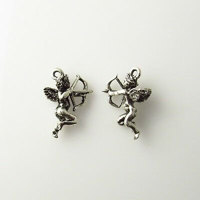 Cupid and Arrow - 5 Lead Free Antique Silver Tone Pewter Charms