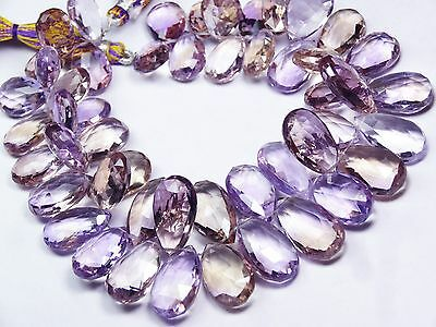 """370Ct. Super Rare Big Size Faceted Ametrine Pear Briolettes 14*10 To 16*11Mm 9"""""""