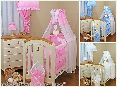 6 pcs BABY BEDDING SET TO FIT BABY COTBED/ LOVE  HEARTS DESIGNE