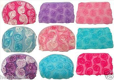 Girl's/ladies Ruffled Zipped Coin Purses Ideal Gift/party Bags/stocking Filler