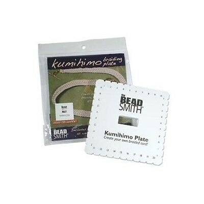 """2 ea KUMIHIMO Braiding PLATE DISC 5-1/2"""" Square Dense Foam Includes Instructions"""