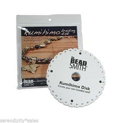"2 each Kumihimo Round Disk Plate Japanese Braiding 6"" Discs + Instructions (Two)"