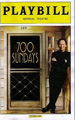 700 Sundays Opening Night Playbill - 2013 *  Billy Crystal
