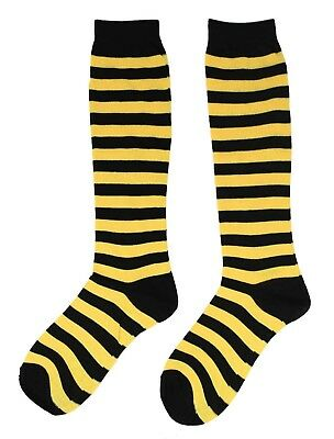 Bumble Bee Black and Yellow Striped Knee Socks Costume Accessory