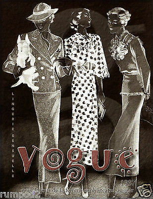 Vogue like//Poster//Vintage Art deco reproduction //Woman in a White Hat//16x22 in