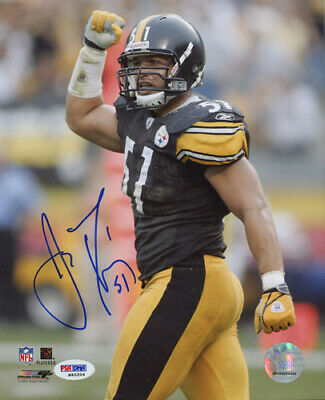 James Farrior Steelers Autographed 8x10 Photo - PSA/DNA COA