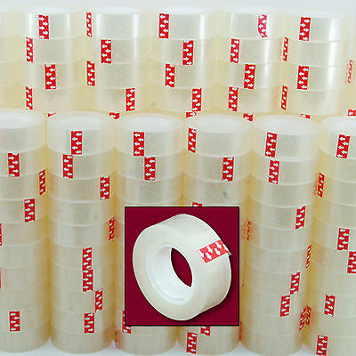 "12 Rolls  Transparent Crystal Clear Tape 3/4""x1000  Dispenser Refill 1"" Core NEW"
