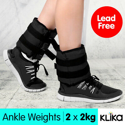 2x 2kg ANKLE WEIGHTS HOME GYM EQUIPMENT WRIST FITNESS YOGA TRAINING WEIGHTS 4kg