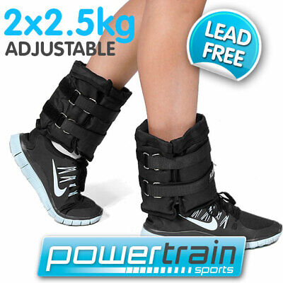 2x 2.5kg ADJUSTABLE ANKLE WEIGHTS GYM EQUIPMENT WRIST FITNESS YOGA 1kg 2kg 5kg