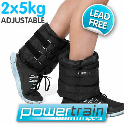 2x 5kg ADJUSTABLE ANKLE WEIGHTS GYM EQUIPMENT WRIST FITNESS YOGA 1kg 2kg 10kg