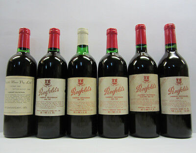 Penfolds Bin 707 Cabernet Sauvignon 1964 to 1969 Red Wine
