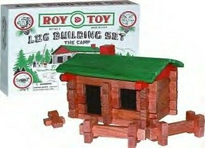 Roy Toy Building Logs The Camp Cabin Lincoln Set 37 Pc Mini Set Made USA 1930