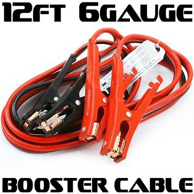 12ft Car Truck Booster Jumper battery charging Cable 6 Gauge 400 amp jump power