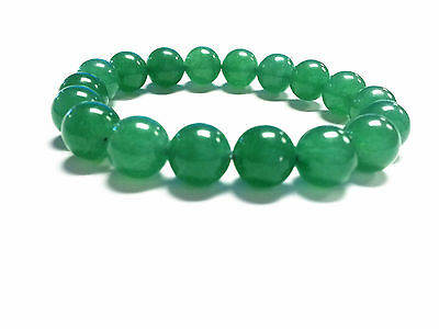 Feng Shui  Green Aventurin Gemstone beads bracelet amulet for good luck