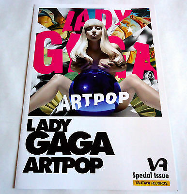 LADY GAGA Artpop JAPAN PROMO ONLY FLYER PAPER