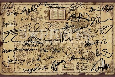 SIGNED PP x15 HARRY POTTER WIZARDING WORLD MAP 12x8 PHOTO POSTER PERFECT GIFT