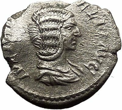 JULIA DOMNA Ancient Silver Roman Coin Diana LUNA Cult Torch Hope Emblem  i35756