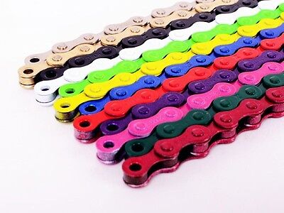 KMC Z410 1/8 Single Speed Coloured Bicycle BMX MTB Chain