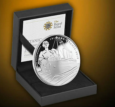 British Royal Mint Titanic 100th Anniversary Silver Proof Coin Limited Edition