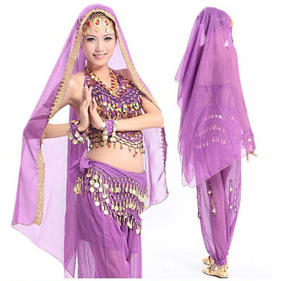 New Belly Dance Dancing Costume Chiffon Shawl Veil Scarf 12 colors
