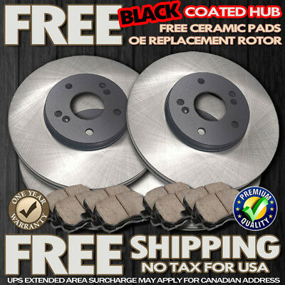 A0066 Dodge Ram 1500 02 03 04 05 Cross Drilled Brake Rotors and Ceramic Pads F+R