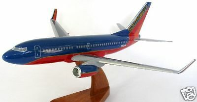 B-737 Southwest Airlines Boeing Airplane Handcrafted Wood Model Regular New