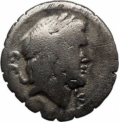 Roman Republic 83BC Ancient Silver Coin of Rome Jupiter Victory Chariot  i32347