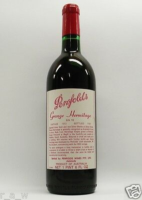 Penfolds Grange Shiraz 1963 Red Wine Clinic
