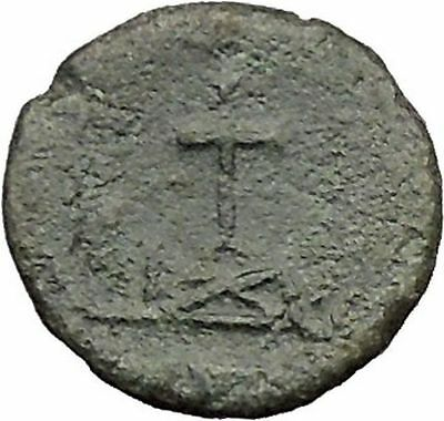 THEODOSIUS II 425AD  Ancient Roman Coin CROSS within wreath  i31570