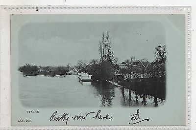 STAINES = View on River Thames. c.1900 U/D Back. B&D Series No.2661. UNUSED