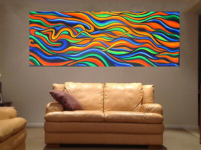 210cm by 70cm  ART PAINTING  Rainbow Dreaming JANE CRAWFORD aboriginal