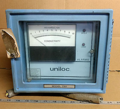 1 USED UNILOC MODEL 750 ANALYTICAL CONDUCTIVITY METER w/Opt 09  ***MAKE OFFER***