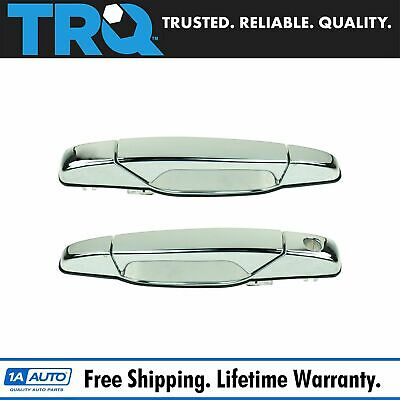 Front Chrome Outer Outside Exterior Door Handle Pair Set for Chevy GMC Pickup